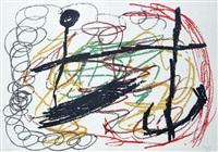 lithograph ix from miró, obra inedita recent by joan miró