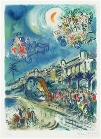 bataille de fleurs (carnaval of flowers) from nice and the côte d'azur by marc chagall