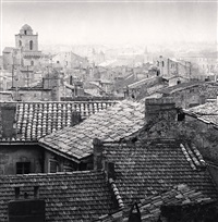 rooftop view, arles, france by michael kenna