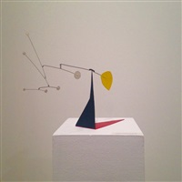 six white dots and yellow on black and red by alexander calder
