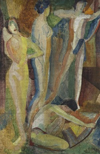 synchromy with figures by arthur bowen davies