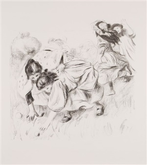 enfants jouant à la balle by pierre-auguste renoir