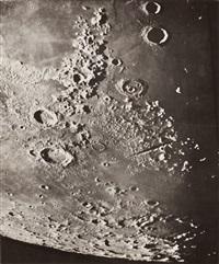 photographie lunaire: cassini-vallée des alpes-pôle nord, 14 mars 1894, 7h 6, t.m. de paris by loewy & puiseux