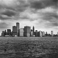 lower manhattan from the harbor by peter hujar