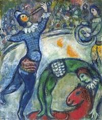 flûtiste et écuyère by marc chagall