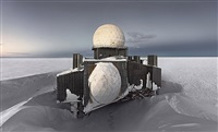 dye2#1, abandoned missile detection station, greenland icesheet by murray fredericks