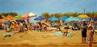 beach crowd at thirteen by roxann poppe leibenhaut