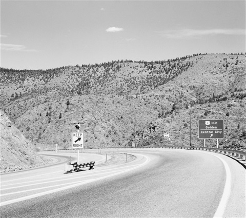 clear creek canyon, near idaho springs, ca. 1970 by robert adams