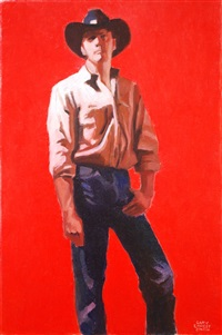 cowboy in red by gary ernest smith