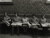 blind children at their lessons by august sander