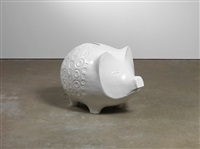pig (white) by jonathan monk