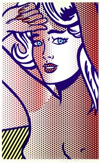 nude with blue hair by roy lichtenstein