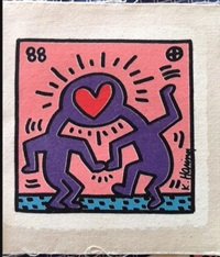 wedding invitations by keith haring
