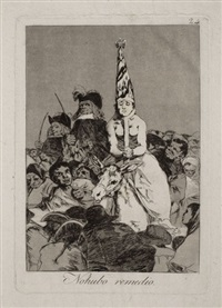 no hubo remedio (nothing could be done), (1st edition) by francisco de goya