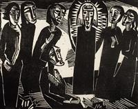 christus unter den frauen (christ among the women) by karl schmidt-rottluff
