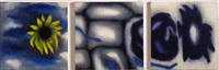 triptych (rb 3404 a, rb 3404 b, rb 3404 c) by ross bleckner