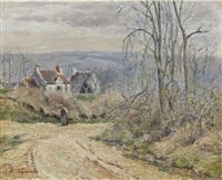 la route en hiver by victor alfred paul vignon