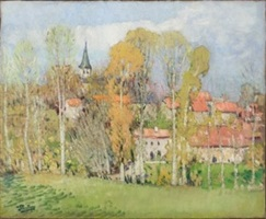 le village de villeneuve-en-marche by pierre eugène montézin
