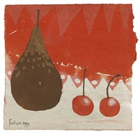 pear and cherries by mary fedden