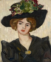 portrait de madame valtat by louis valtat