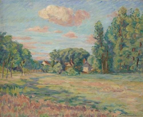 paysage aux environs de saint chéron by armand guillaumin