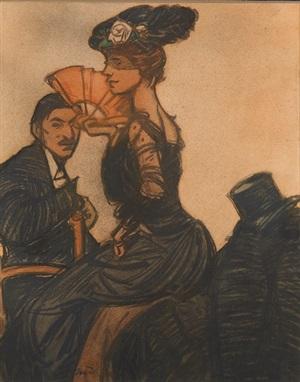 femme avec l'eventail by maxime dethomas