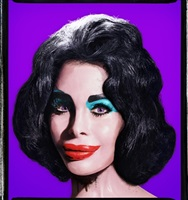 amanda as andy warhol's liz (purple) by david lachapelle