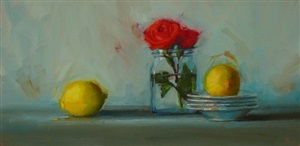 roses with lemons (sold) by susan nally