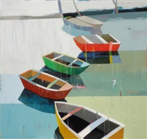 boats in the shallow water #11 by siddharth parasnis