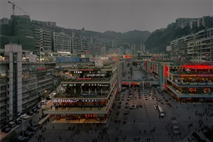 three gorges - a night at fengjie by chen jiagang
