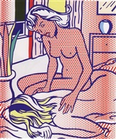 two nudes, state i (from the nudes series) by roy lichtenstein