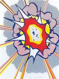 explosion by roy lichtenstein