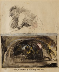 untitled (miners eating their lunch) by graham sutherland