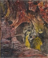 untitled: miner emerging from a stope by graham sutherland