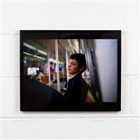 simon on the subway, nyc by nan goldin