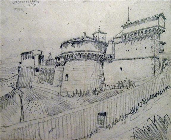 grotto ferrato (castle) by m. c. escher