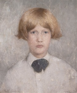 portrait of dines by soren emil carlsen