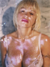 pink bra (pam anderson) by marilyn minter