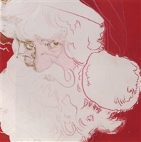 myths: santa claus, 1981 by andy warhol