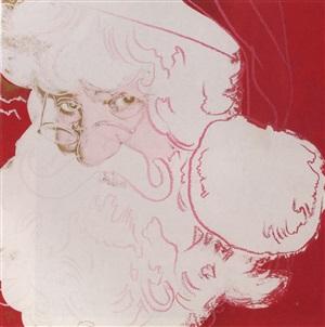 myths: santa claus, 1981 by andy warhol