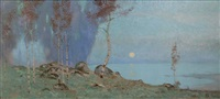 moonlight landscape by maurice galbraith cullen