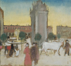 florence, piazza san gallo by maurice denis