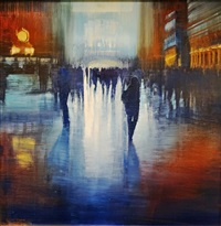 nyc, gct, flare of daylight by david allen dunlop