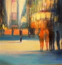 nyc, crossing sunlight by david allen dunlop