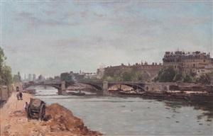 la seine au pont solferino by stanislas lépine