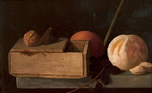 still life with orange and nuts by john frederick peto