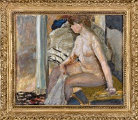 seated nude by pierre bonnard