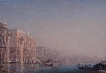 doge's palace, venice, inundated by félix ziem