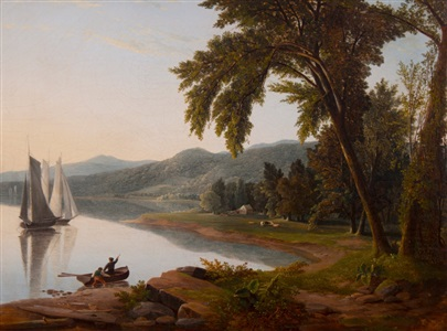 sailboats on the hudson by james mcdougal hart