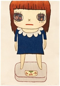 balance girl by yoshitomo nara